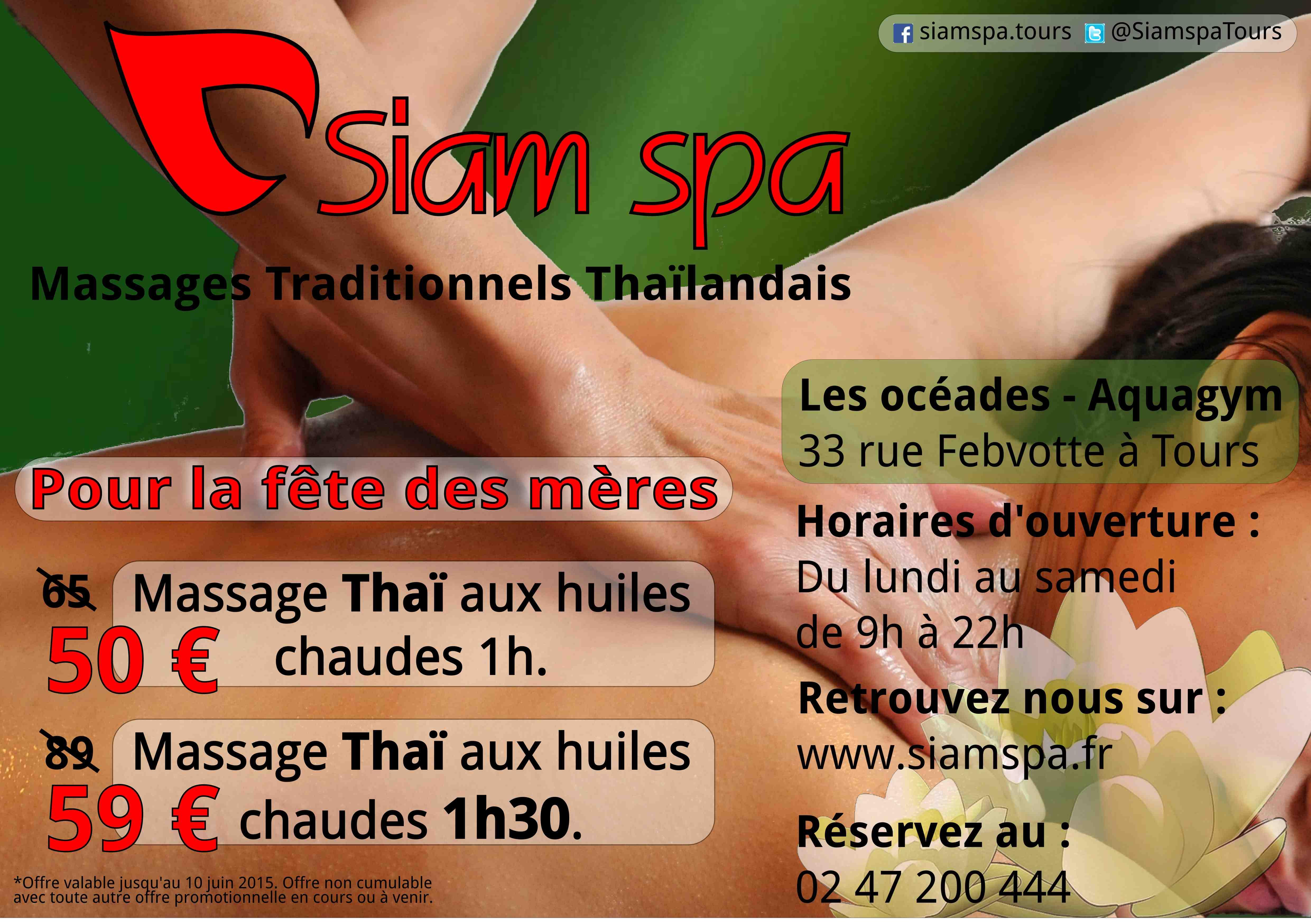 Promotion massage Thai aux huiles chaudes pour la fête des mères 2015
